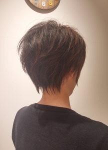 動きのあるショートヘア