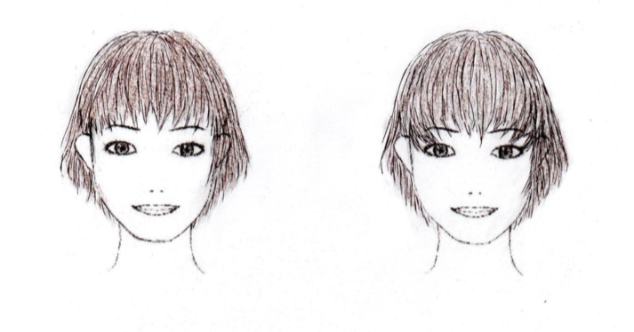 目力強調と目の大きさ強調