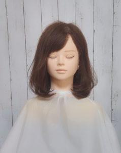 流し前髪 ロブ