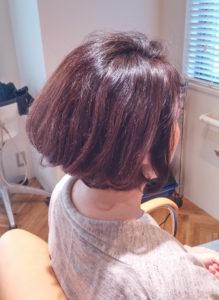ノンジアミンカラーでツヤ髪になった施術例