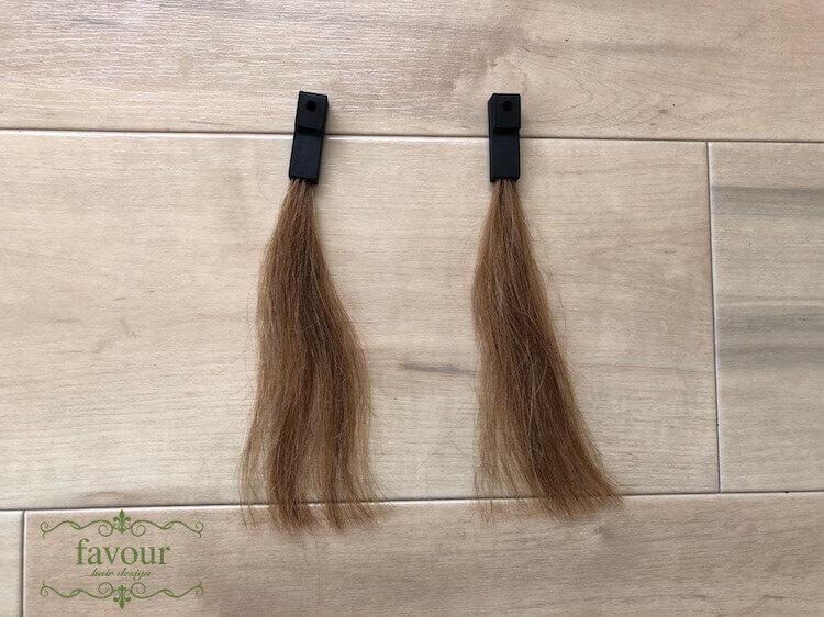 ブリーチ毛の毛束