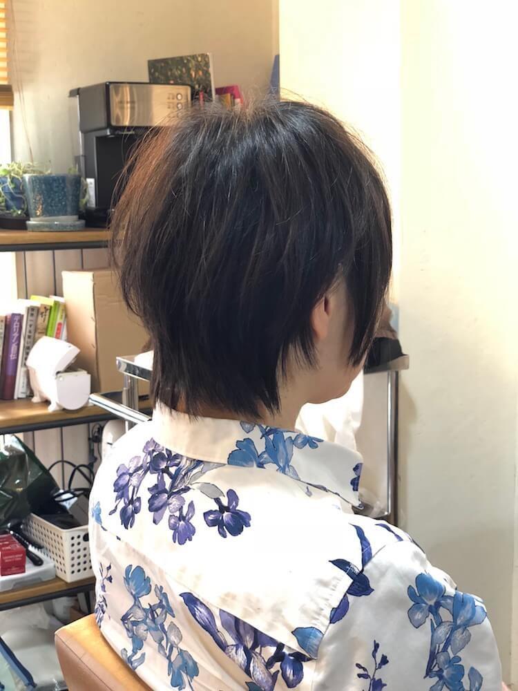 トップふんわり動きのあるショートヘア