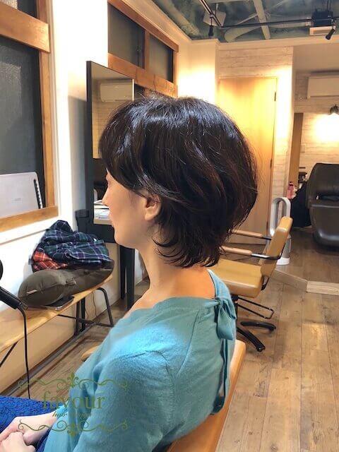 パーマのスタイリング ショートヘア