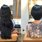 縮毛矯正とカットで多毛で膨らむくせ毛を理想のショートヘアに