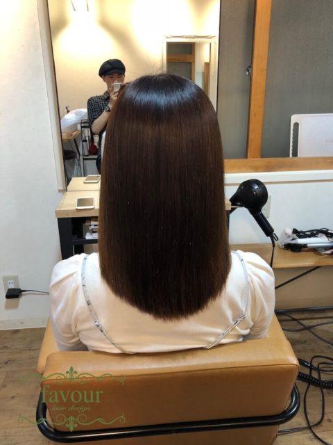ナチュラル縮毛矯正 カラー毛 ダメージ毛にかけた施術例