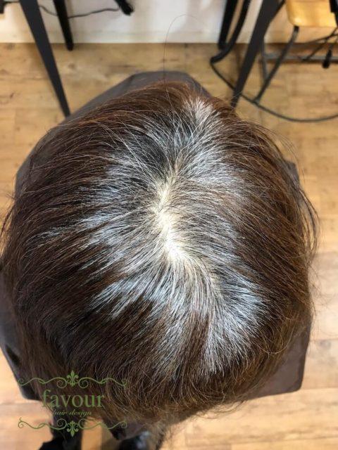 白髪率9割の髪質