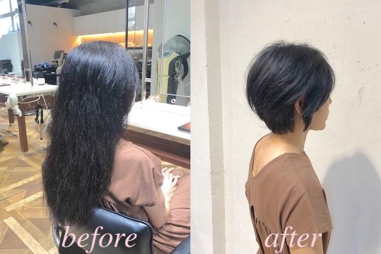 くせ毛カット ショートヘア ヘナによる髪質改善