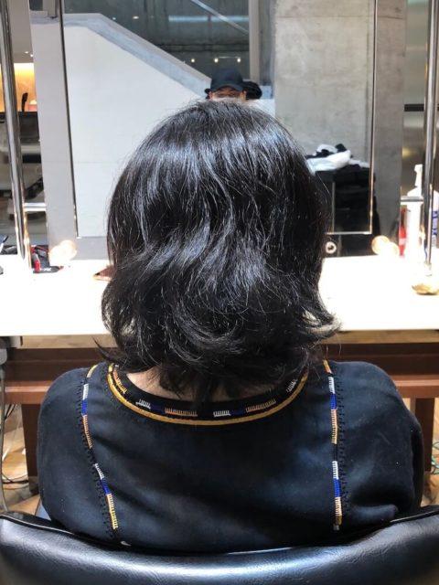 くせ毛のカット前の状態