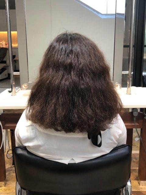 強いクセで多毛、かなり膨らんでしまうくせ毛